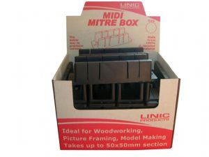 Linic UK Made 20 x Midi Mitre Box in Display Box. MB1010